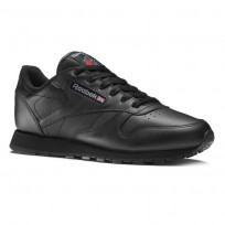 Reebok Classic Leather Shoes Kids Black (564VESAW)