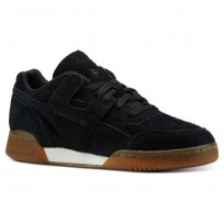 Reebok Workout Plus Shoes Mens Suede-Black/Gum (569PMUOD)