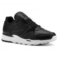 Reebok Classic Leather Shoes Mens Og-Black/White (569YVBUN)