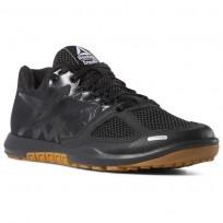 Reebok CrossFit Nano Shoes Mens Black/Rubber Gum/White (570LDYAB)