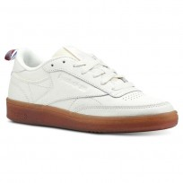 Reebok Club C 85 Shoes Womens Premium Basic-Chalk/Gum (574CEMST)