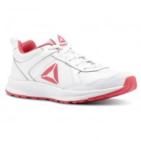Reebok ALMOTIO 4.0 Running Shoes Girls White/Twisted Pink/Silver Met (574JIPFR)