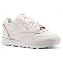 Reebok Classic Leather Shoes Womens Pale Pink/Rose Gold/White (579ENCXJ)