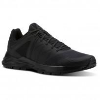 Reebok Astroride Trail Walking Shoes Mens Black/Ash Grey/Primal Red (579FILOR)