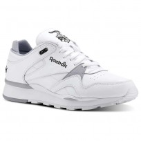 Chaussure Reebok Classic Leather Homme Blanche/Grise/Noir (585RZDTK)