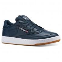 Reebok Club C 85 Shoes Mens Fg-Mineral Blue/White/Gum (589QSOYW)