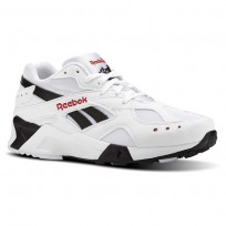 Reebok Aztrek Shoes Mens Bw-White/Black/Excellent Red (590JVRNU)