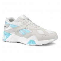 Reebok Aztrek Shoes Mens Enh-Skull Grey/White/Digital Blue (592FVDQE)