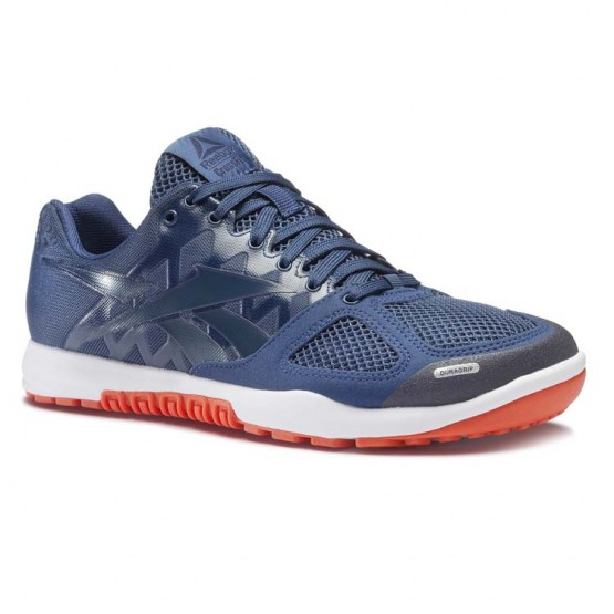 Reebok CrossFit Nano Shoes Mens Washed Blue/Collegiate Navy/Bright Lava/White (592MHVJI)