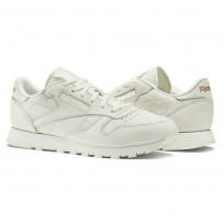 Reebok Classic Leather Shoes Womens White/Rose Gold (597DFCJH)