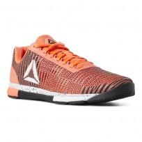 Reebok Speed Training Shoes Mens Vitamin C/Black/White (600GAWMJ)