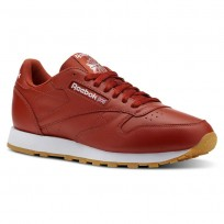 Reebok Classic Leather Shoes Mens Fg-Burnt Amber/White/Gum (601QPXWO)