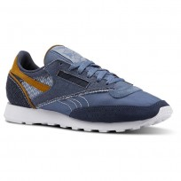 Reebok Classic 83 Shoes Mens Blue Slate/Smoky Indigo/White/Soft Camel (604KLRYC)