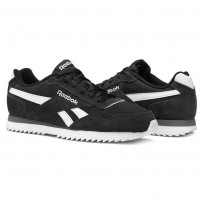 Reebok Royal Glide Shoes For Men Black/White/Grey (605XKANJ)