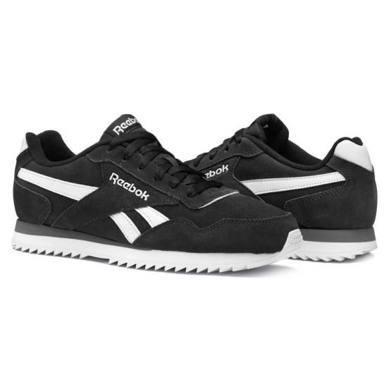 reebok royal glide παπουτσια ανδρικα μαυρα/ασπρα/γκρι (605xkanj)