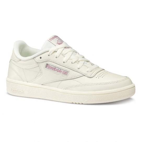 Reebok Club C 85 Shoes Womens Trend X-Chalk/Infused Lilac (606FAEZS)