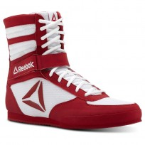 Reebok Boxing Tactical Shoes Mens White/Excellent Red (606XWAQK)