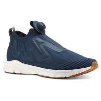 Reebok Pump Supreme Lifestyle Shoes Mens Utl-Mineral Blue/Prchmnt/Spr Ntrl/Chlk/Ch Grn (613EFJOM)