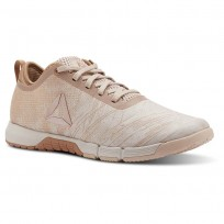 Reebok Speed Training Shoes Womens Face-Bare Beige/Bare Brwn/Moonwht/Pure Copper (613LAYMG)