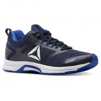 Reebok Ahary Runner Running Shoes Mens White/Vital Blue/Collegiate Navy (618ONMYK)