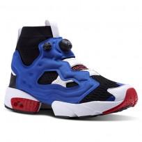 Reebok InstaPump Fury Shoes Mens Black/Team Dark Royal/Primal Red (619FDKXI)