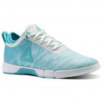 Chaussure De Sport Reebok Speed Femme Bleu/Turquoise/Blanche (619JVGPO)
