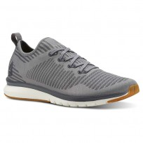Reebok Print Smooth Running Shoes Mens Foggy Grey/Alloy/Chalk/Gum (619XYFIG)