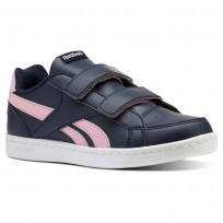 Reebok Royal Prime Shoes Girls Collegiate Navy/Light Pink/White (621BIUVS)