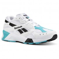 Reebok Aztrek Shoes Mens Og-White/Solid Teal/Black (622CDGLU)