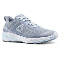Reebok OSR Running Shoes Womens Meteor Grey/Fresh Blue/White/Pewter (622GMSIY)