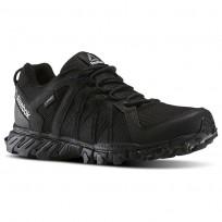Reebok Trailgrip Walking Shoes Mens Black/Collegiate Navy (624TKDEO)