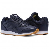 Reebok Royal Classic Jogger Shoes For Kids Navy (626XOKHW)