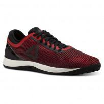 Reebok CrossFit Nano Shoes Mens Black/Primal Red/Cranberry Red/Chalk (628FVUIX)