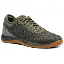 Reebok CrossFit Nano Shoes Womens Hunter Green/Coal/Khaki/Bright Lava (631NAVGI)