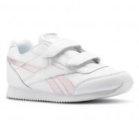 reebok royal classic jogger παπουτσια για κοριτσια ασπρα/ροζ/ασημι (632zjyep)
