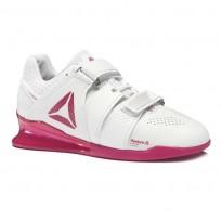reebok legacy lifter παπουτσια γυναικεια ασπρα/ροζ/ασημι (636iprwc)