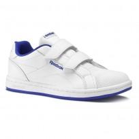 Chaussure Reebok Royal Comp Enfant Blanche/Bleu Royal (636VZDXW)