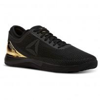 Reebok CrossFit Nano Shoes Womens Blacke/True Gold (637ZEMVW)