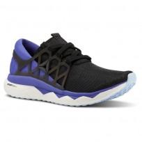 Reebok Floatride Run Running Shoes Womens Black/Ultima Purple/White/Dreamy Blue (638WNZUG)