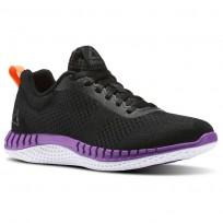 Reebok Print Running Shoes Womens Coal/Black/Vicious Violet/Guava Punch (640MYFEK)