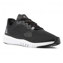 Reebok Flexagon Training Shoes Womens Black/White/Pure Silver (641YBLMF)