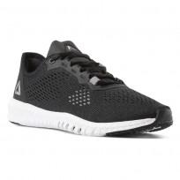 reebok flexagon αθλητικα παπουτσια γυναικεια μαυρα/ασπρα/ασημι (641yblmf)
