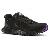 Reebok Sawcut Walking Shoes Womens Black/Vicious Violet/Cloud Grey (644JKUFR)