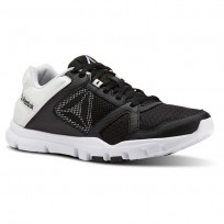 Reebok YourFlex Trainette Training Shoes Womens Black/White (648ILFUD)