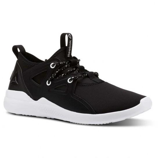 Reebok Cardio Motion Studio Shoes Womens Black/White/Silver Met (658DSHTX)