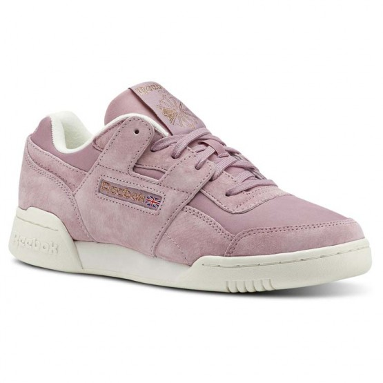 Reebok Workout Lo Shoes Womens Vtg-Infused Lilac/Chalk/Rose Gold (658TWFUH)