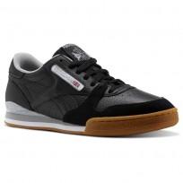 Chaussure Reebok Phase 1 Pro CV Homme Noir/Blanche/Grise (665UBJLF)