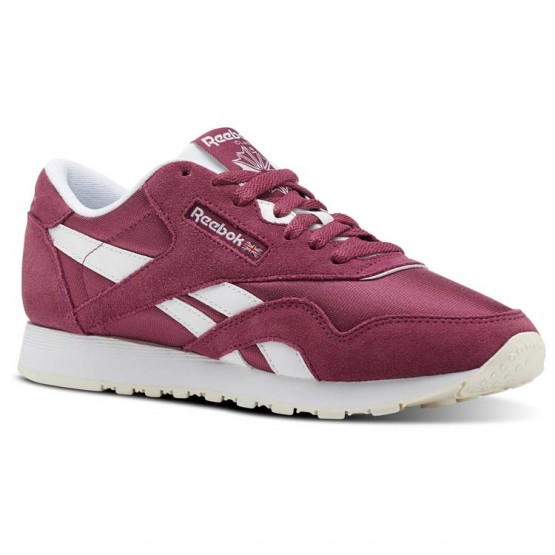 Reebok Classic Nylon Shoes Womens Mutedberries-Twisted Berry/White/Chalk (667OACJB)
