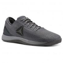 Reebok CrossFit Nano Shoes Mens Tin Grey/Sharkash Grey/Dark Silver (667TZRUY)