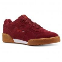 Reebok Workout Plus Shoes Kids Spg-Collegiate Burgundy/Carotene/White/Gum (669SVILR)